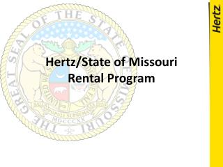 Hertz/State of Missouri Rental Program