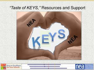 """Taste of KEYS,""  Resources and Support"