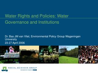 Water Rights and Policies: Water Governance and Institutions