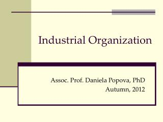 Industrial Organization