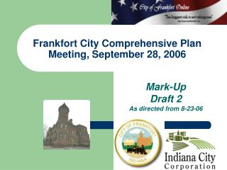 Frankfort City Comprehensive Plan Meeting, September 28, 2006