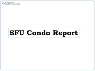 SFU Condo Report