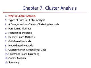 Chapter 7.  Cluster Analysis
