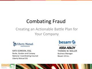 Combating Fraud