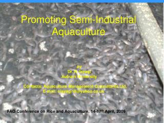 Promoting Semi-Industrial Aquaculture