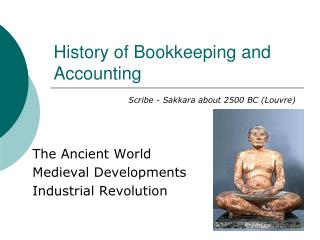 History of Bookkeeping and Accounting