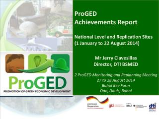 ProGED Achievements  Report National  Level  and Replication Sites