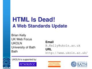 HTML Is Dead! A Web Standards Update