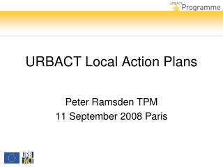 URBACT Local Action Plans
