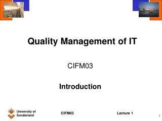Quality Management of IT