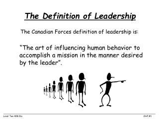 how do you define a leader