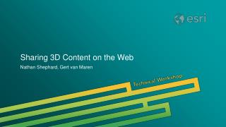 Sharing 3D Content on the Web