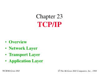 Chapter 23 TCP/IP