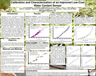 Calibration and Characterization of an Improved Low-Cost Water Content Sensor