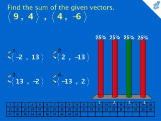 Find the sum of the given vectors. {image}