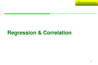 Regression & Correlation