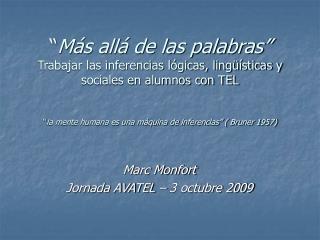 Marc Monfort Jornada AVATEL – 3 octubre 2009