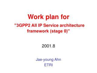"Work plan for ""3 GPP2 All IP Service architecture framework (stage 0)"""