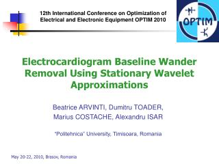 Electrocardiogram Baseline Wander Removal Using Stationary Wavelet Approximations