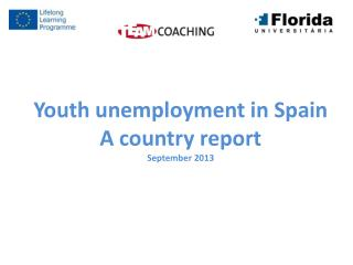 Youth unemployment  in  Spain A country  report September  2013