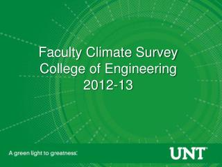 Faculty Climate Survey College of Engineering 2012-13