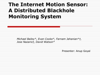 The Internet Motion Sensor: