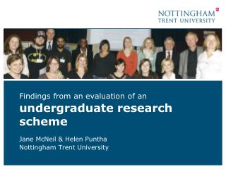 Findings from an evaluation of an undergraduate research scheme