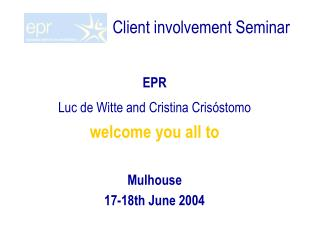 Client involvement Seminar
