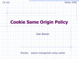 Cookie Same Origin Policy