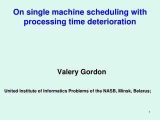 On single machine scheduling with processing time deterioration