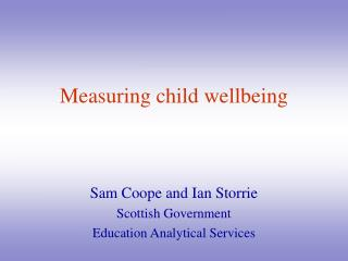 Measuring child wellbeing