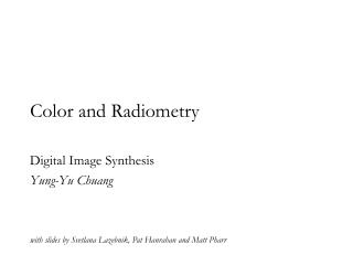 Color and Radiometry