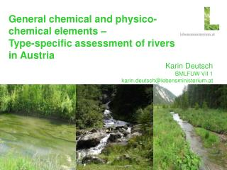General chemical and physico-chemical elements –  Type-specific assessment of rivers in Austria