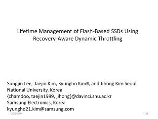 Lifetime Management of Flash-Based SSDs Using Recovery-Aware Dynamic Throttling