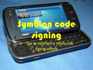 Symbian code signing