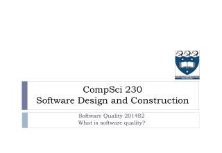 CompSci  230 Software Design and Construction