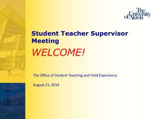 Student Teacher Supervisor Meeting