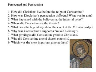 Persecuted and Persecuting