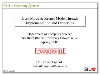 User-Mode & Kernel Mode Threads Implementation and Properties