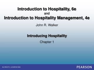 Introducing Hospitality