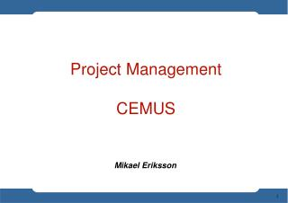 Project Management CEMUS
