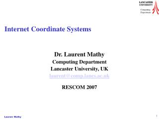 Internet Coordinate Systems