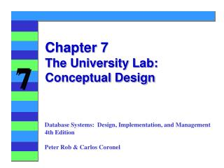 Chapter 7 The University Lab: Conceptual Design