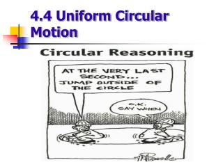 4.4 Uniform Circular Motion