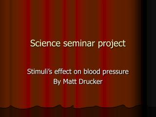 Science seminar project