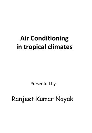 Air Conditioning in tropical climates