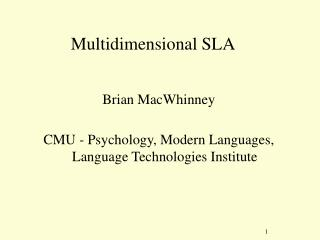 Multidimensional SLA