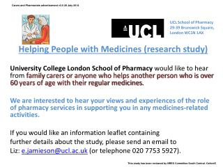 Helping People with Medicines (research study)