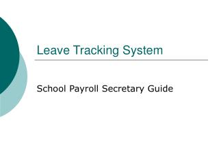 Leave Tracking System