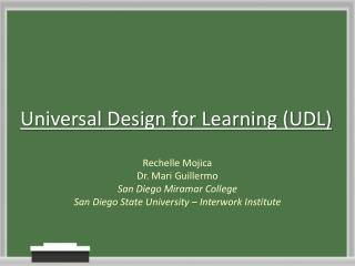 Universal Design for Learning (UDL)